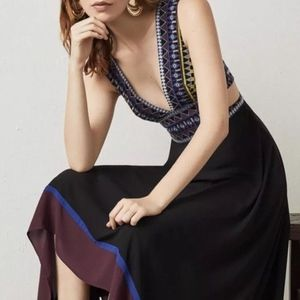 BCBG Embroidered Handkerchief size 4 dress NWT